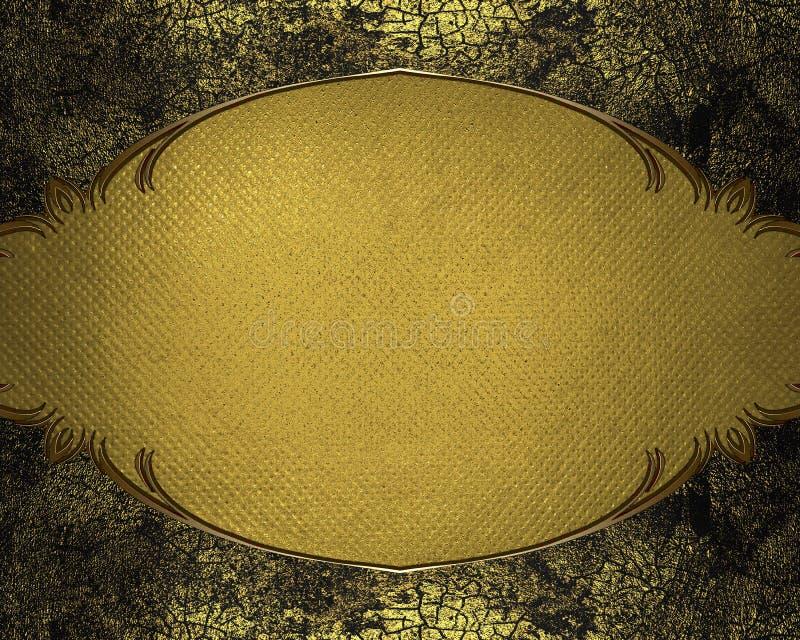 与难看的东西框架的黄色背景 设计的模板 皇族释放例证