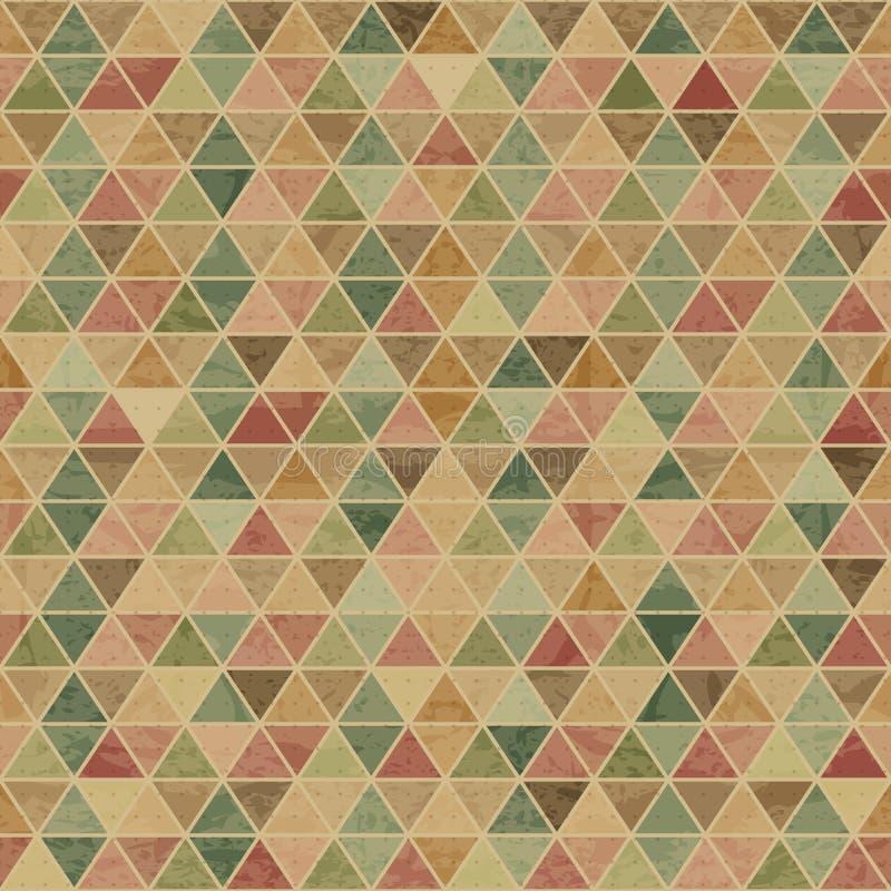 与难看的东西纹理的几何无缝的样式 向量例证
