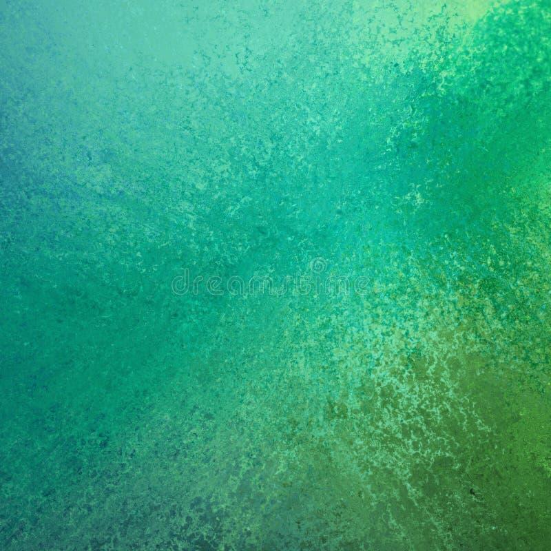与难看的东西纹理的抽象绿色和蓝色颜色飞溅背景设计 库存例证