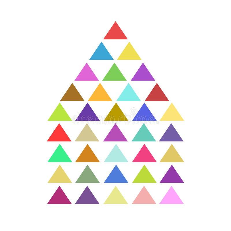 与难题三角的五颜六色的房子ligo象在白色,储蓄传染媒介例证 向量例证