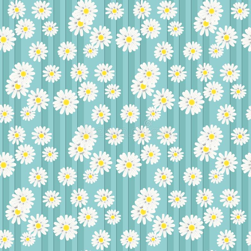 与雏菊花的美好的夏天背景 o r EPS10 向量例证