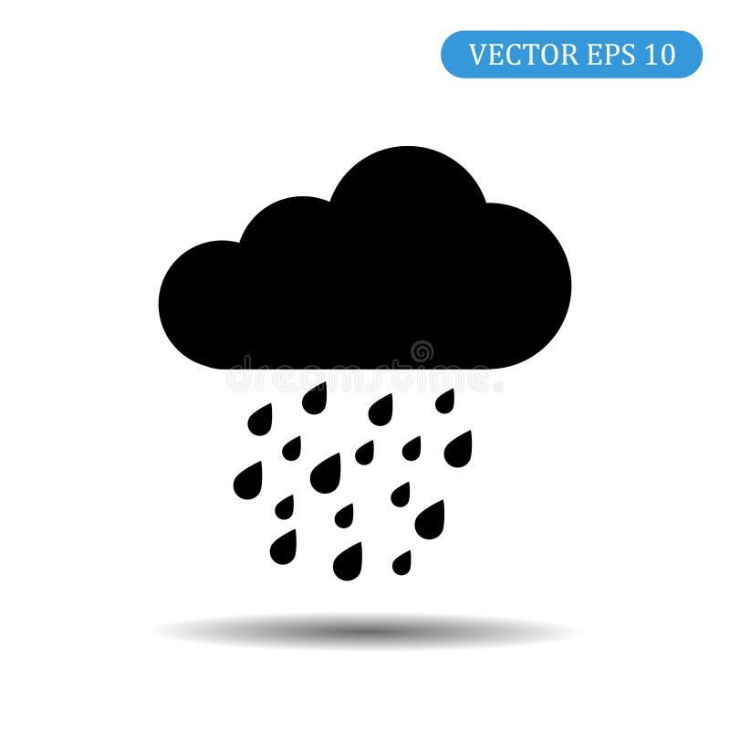 与雨象黑色颜色的云彩 10 eps例证盾向量 皇族释放例证