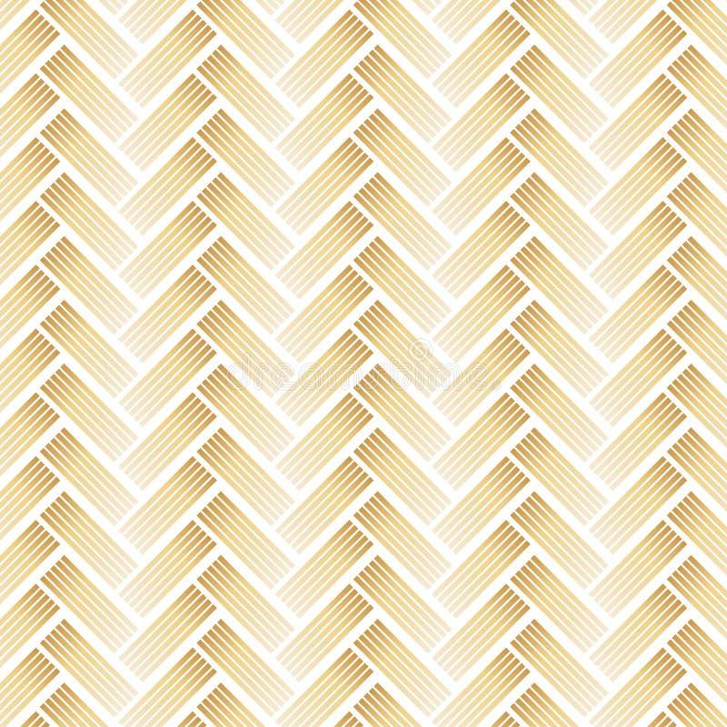 与雪佛的金黄样式在白色背景 库存例证