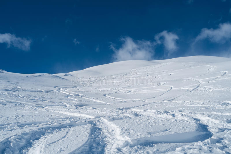 与雪的山 免版税图库摄影