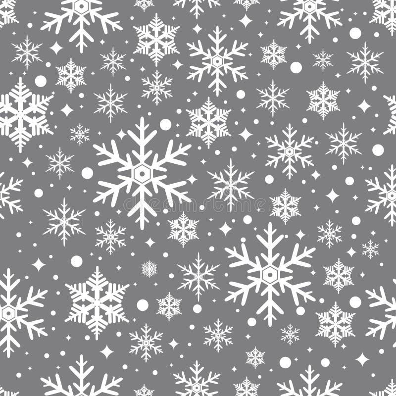 与雪花的传染媒介无缝的样式 库存照片