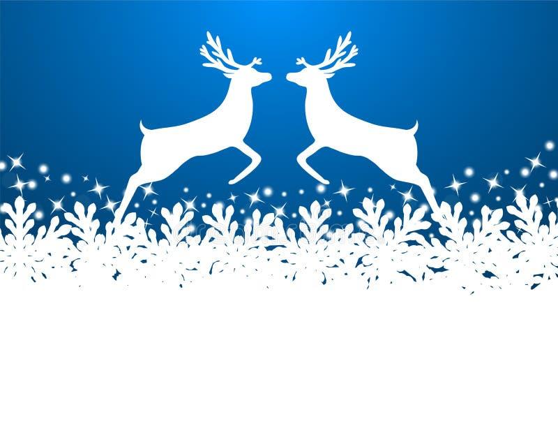 与雪花的圣诞快乐背景 向量例证