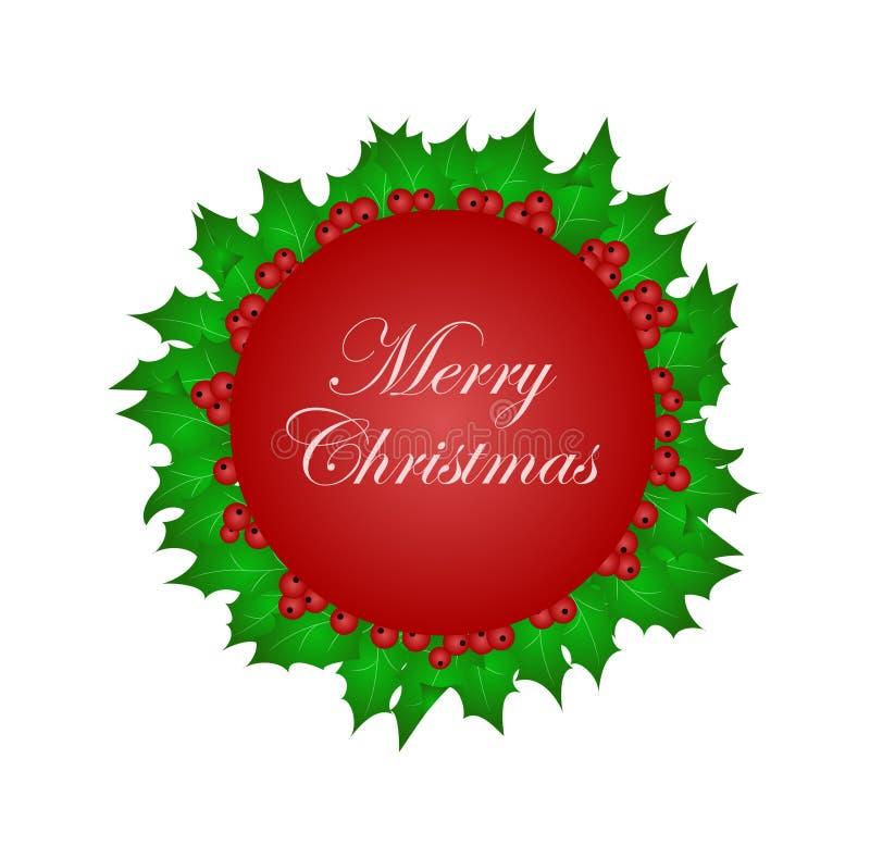 与雪花的圣诞节发光的横幅 图库摄影