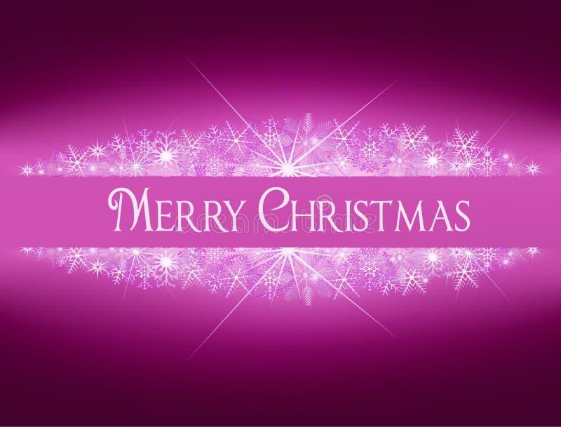 与雪花的圣诞节发光的横幅 库存图片