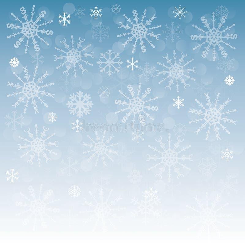 与雪花的新年背景与标志o 皇族释放例证