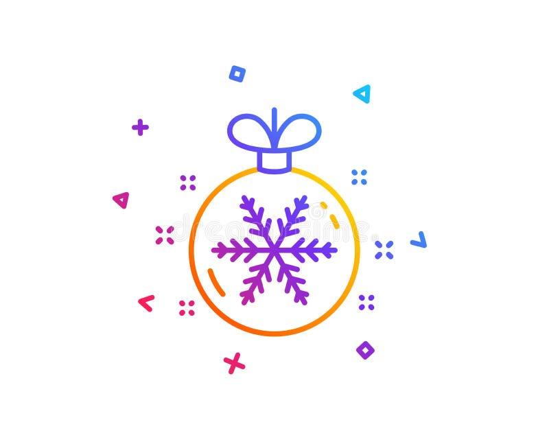 与雪花线象的圣诞节球 新年树装饰标志 向量 向量例证