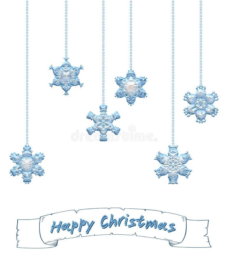 Download 与雪花装饰品的愉快的圣诞节背景 库存例证. 插画 包括有 摇晃, 靠山, 符号, 看板卡, 丝带, 时髦 - 59109398