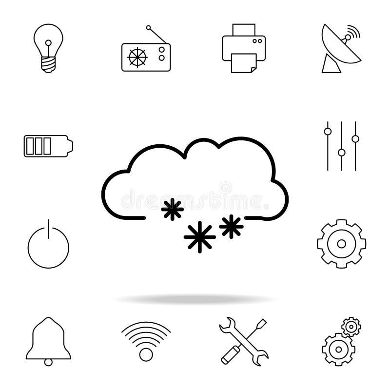 与雪花象的云彩 详细的套简单的象 优质图形设计 其中一个网站的汇集象,网 皇族释放例证