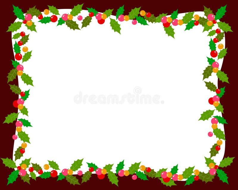与霍莉的圣诞节框架 库存例证
