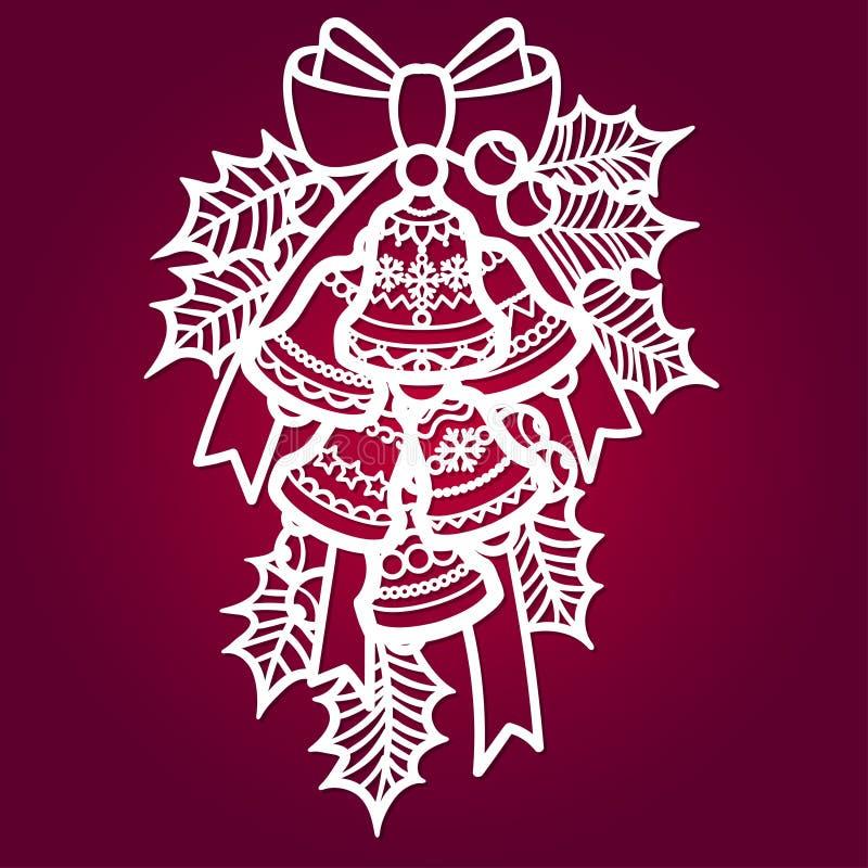 与霍莉的圣诞节铃声 对激光切口 皇族释放例证
