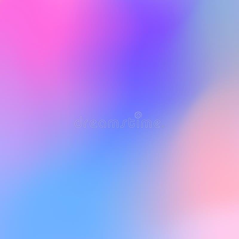 与霓虹桃红色和白苋桃红色斑点,传染媒介的明亮的紫罗兰色蓝色背景 库存例证