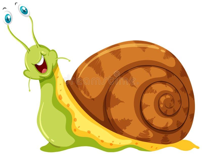 与非常突出的眼珠的蜗牛  向量例证