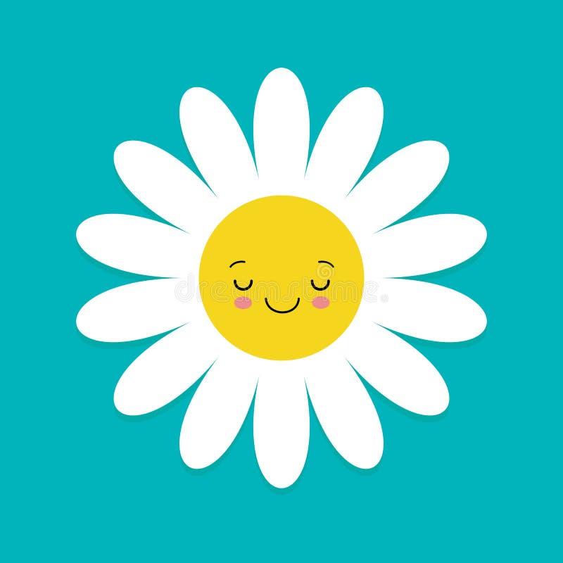 与面孔头的戴西春黄菊 r o ( 逗人喜爱的动画片微笑的字符 皇族释放例证