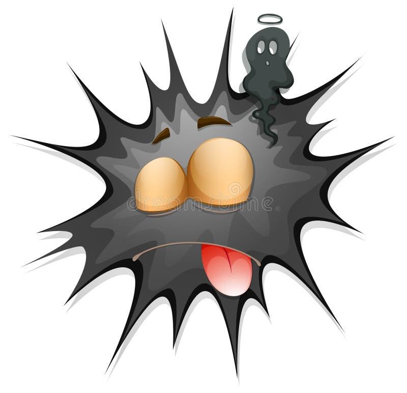 Download 与面孔的黑飞溅 向量例证. 插画 包括有 图象, 字符, 表达式, 情感, 舌头, 照片, 例证, 可笑 - 59107957