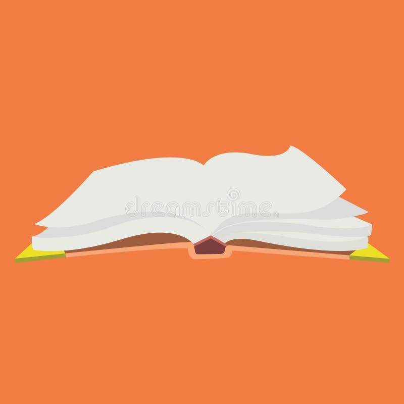 与页振翼的被打开的书 皇族释放例证