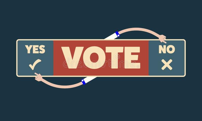 与题目的传染媒介横幅投赞成票还是反对票 皇族释放例证