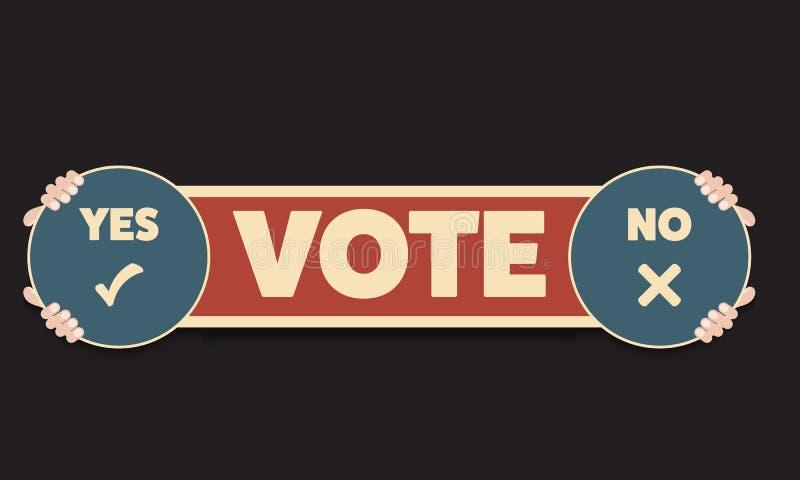 与题目的概念投赞成票还是反对票 printe的传染媒介概念 皇族释放例证