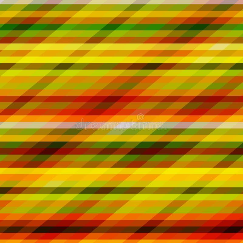 与颜色条纹的背景 向量例证