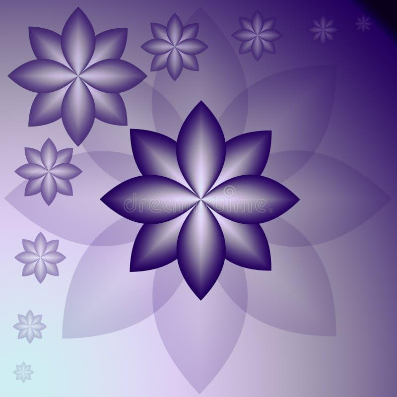 与风格化颜色花的春天纹理 皇族释放例证