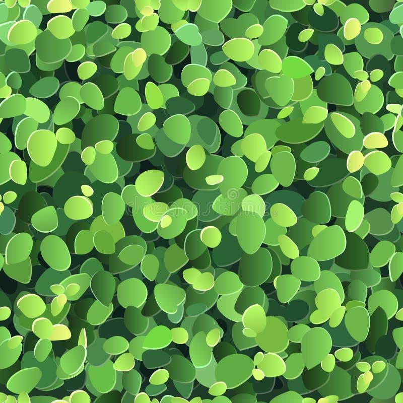 与风格化绿色叶子的背景 库存例证