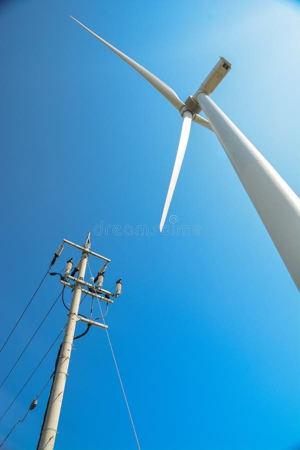 与风车的风能 库存图片