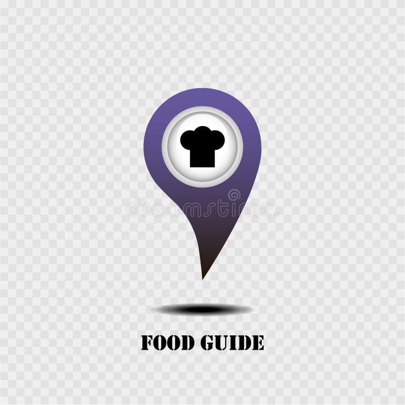 与食物指南的地图尖 灰色背景 也corel凹道例证向量 皇族释放例证