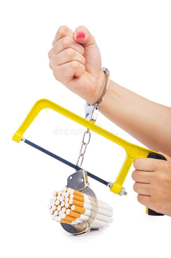 与香烟的瘾概念 图库摄影