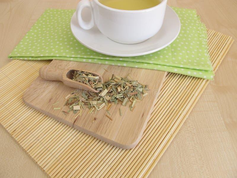 与香茅的茶 免版税库存图片