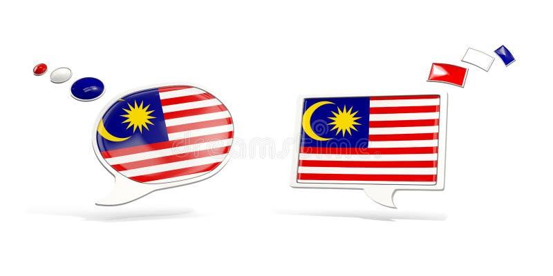 与马来西亚的旗子的两个闲谈象 库存例证