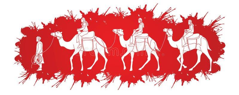 与骆驼动画片图表的Cameleer 皇族释放例证