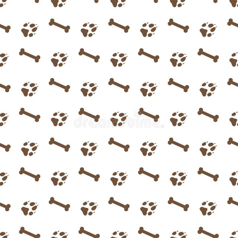 与骨头,狗轨道的无缝的样式 库存例证
