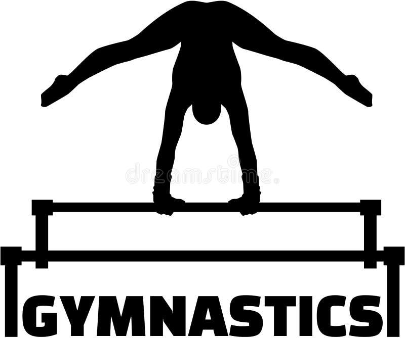 与高低杠的体操 库存例证