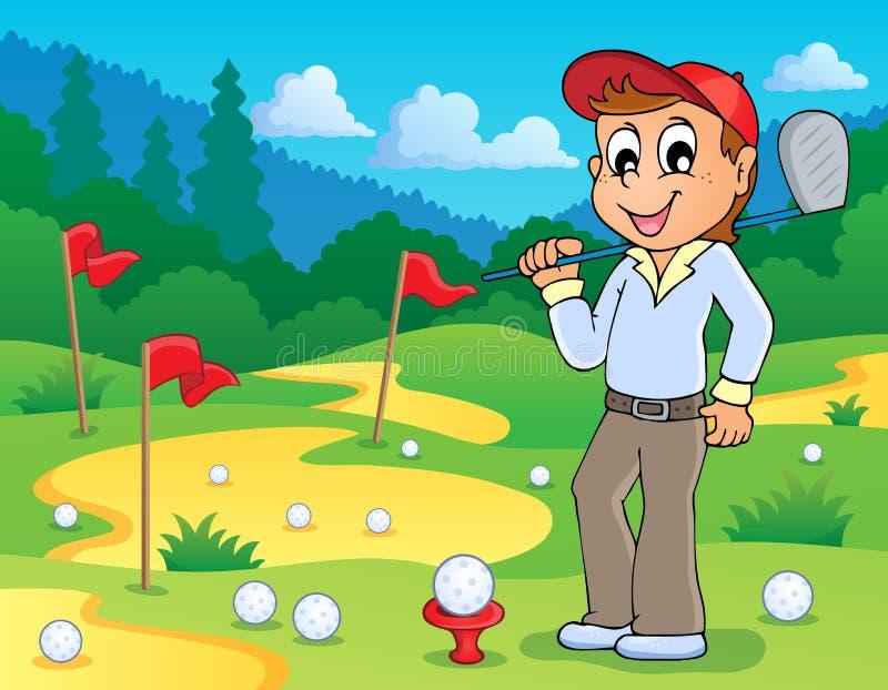 与高尔夫球题材3的图象 皇族释放例证