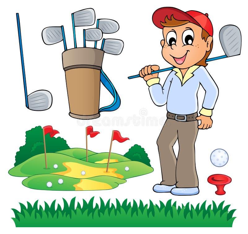 与高尔夫球题材6的图象 库存例证