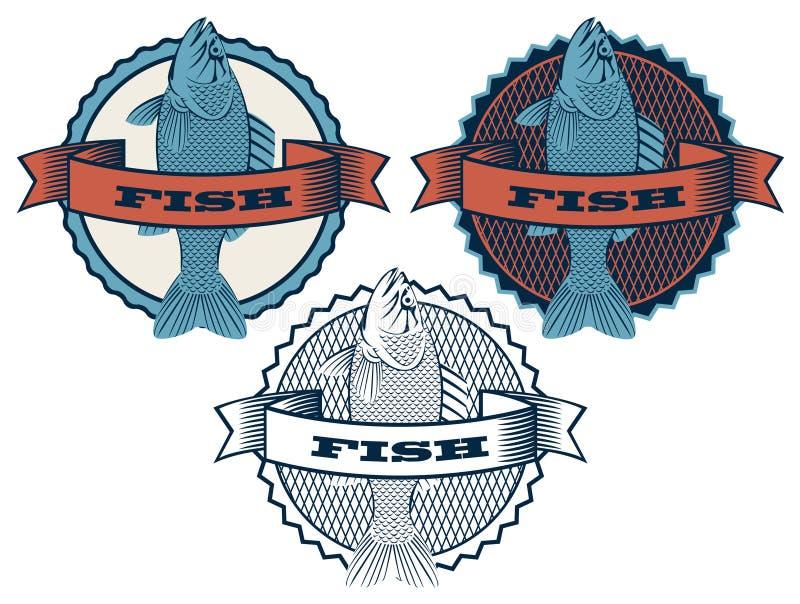 与鱼的横幅 皇族释放例证