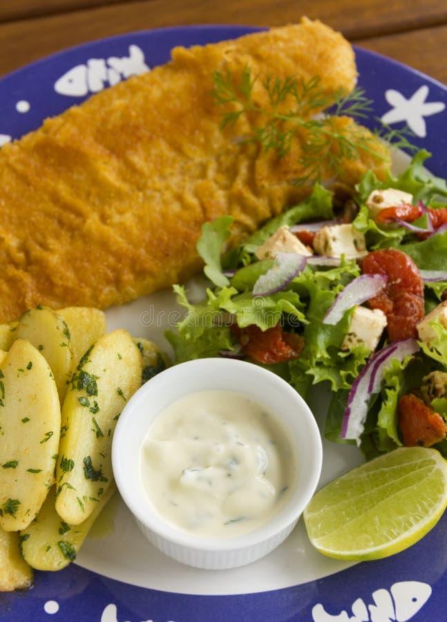 与鱼的鞑靼的调味汁 免版税库存图片