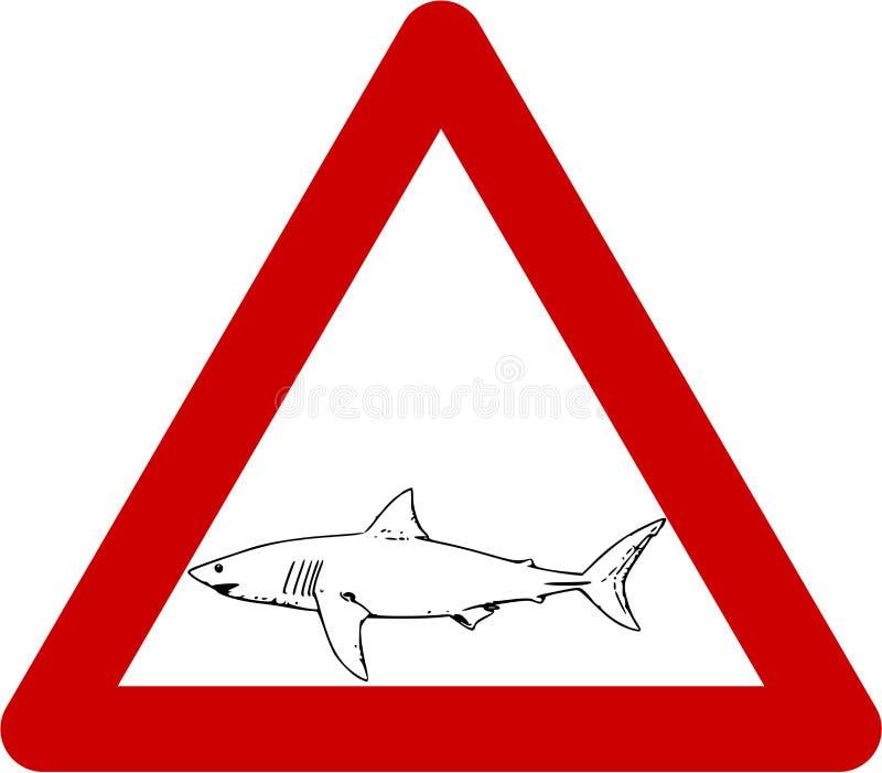 与鲨鱼的警报信号 库存例证