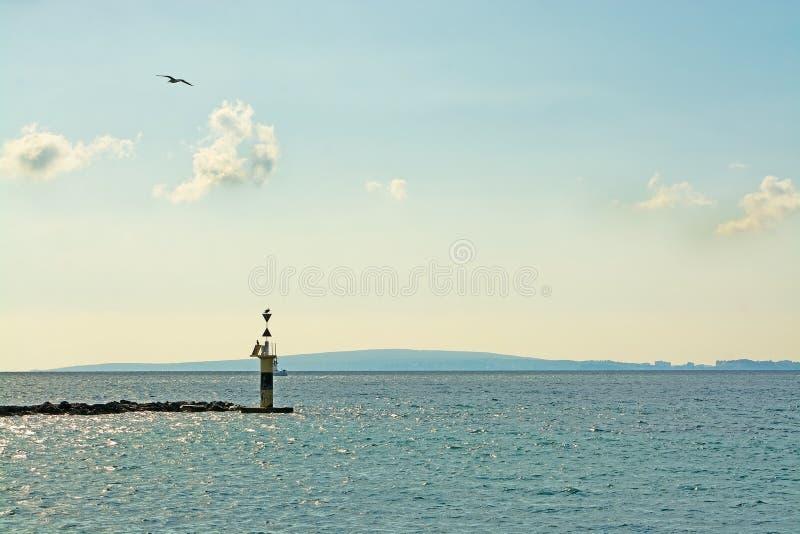 与鸟的海入口 库存图片