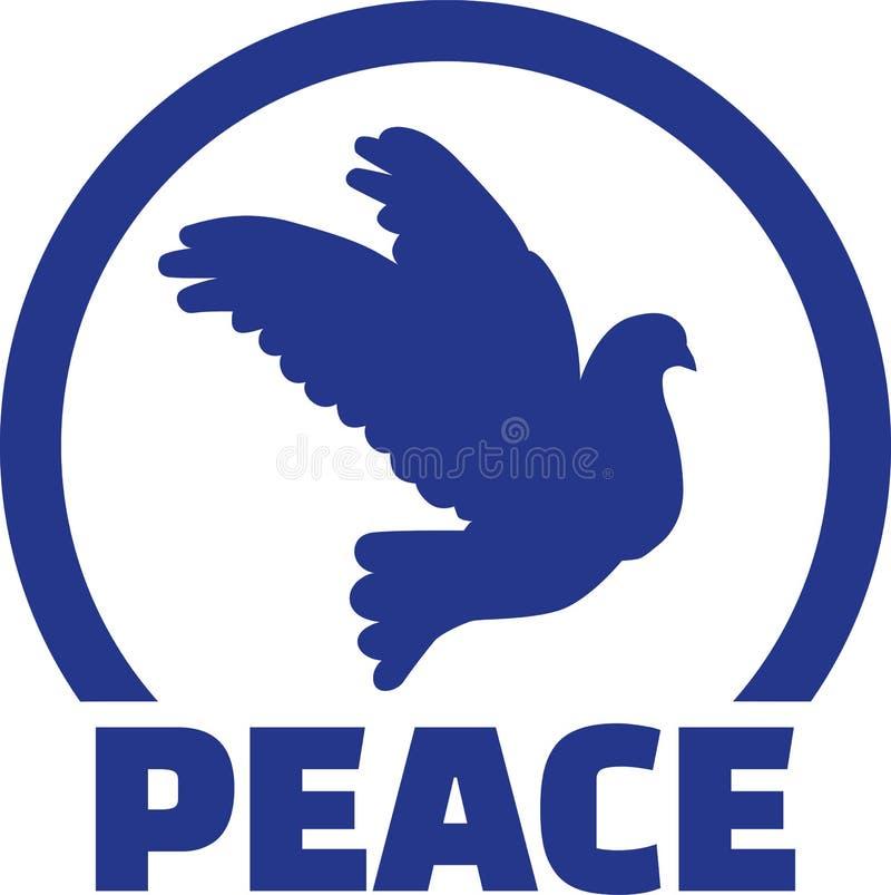 与鸠和和平的象征 向量例证