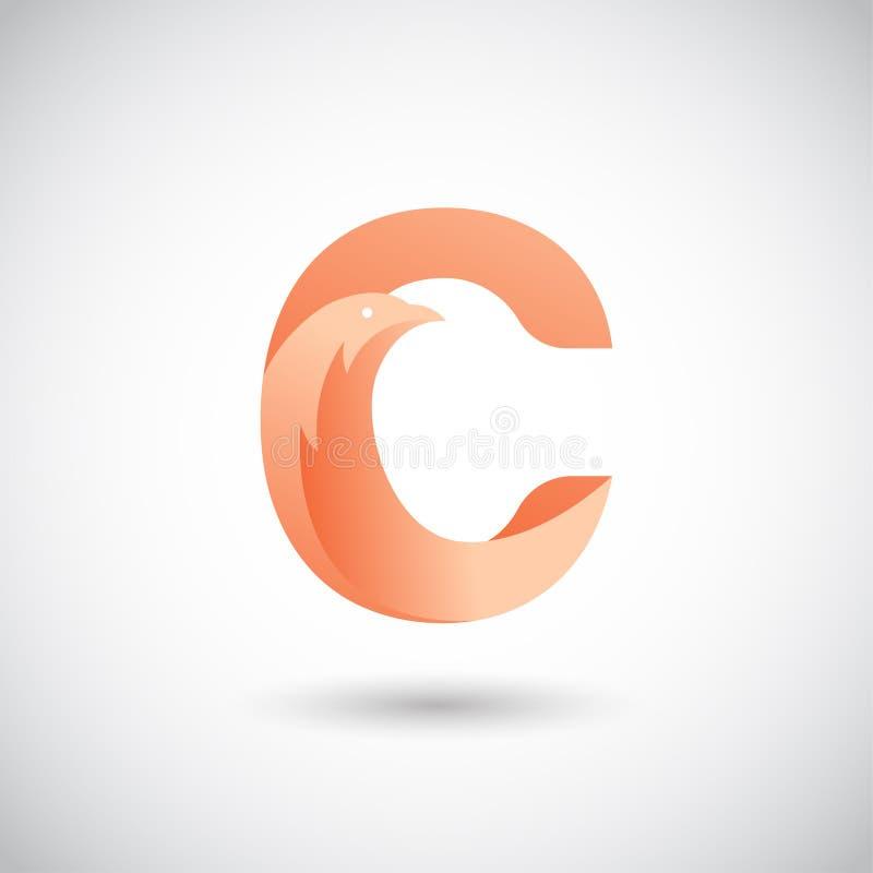与鸠商标概念的信件C 皇族释放例证