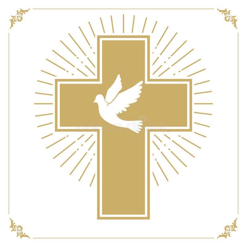 与鸠的十字架 库存例证