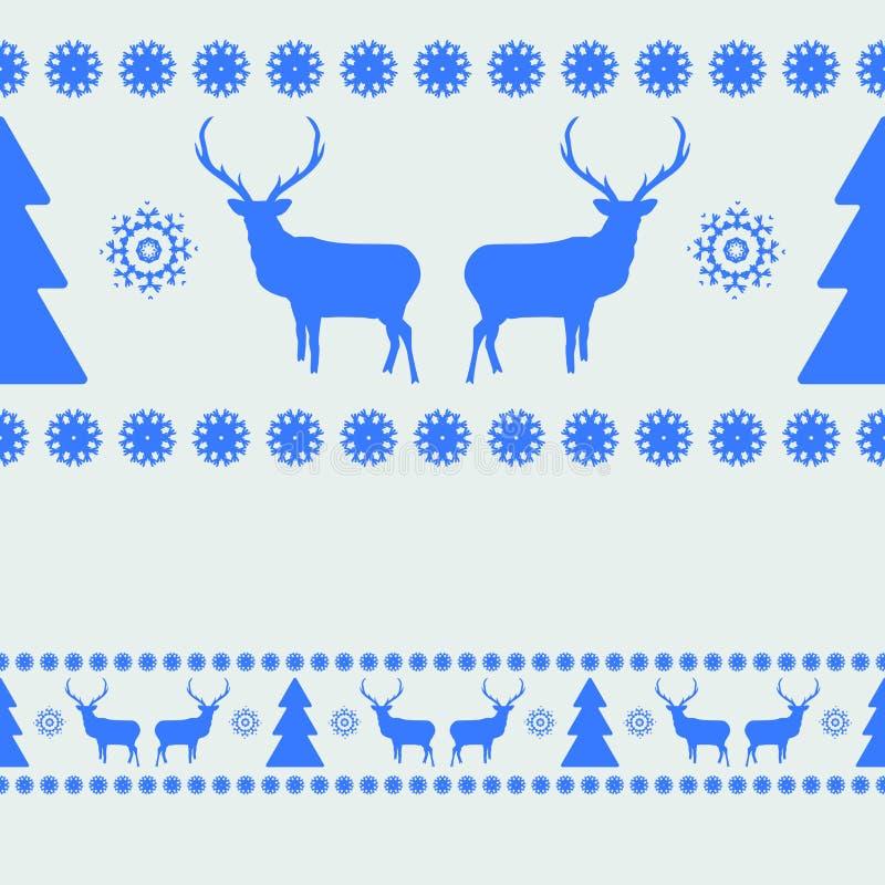 与鹿剪影的北欧样式。EPS 8 皇族释放例证