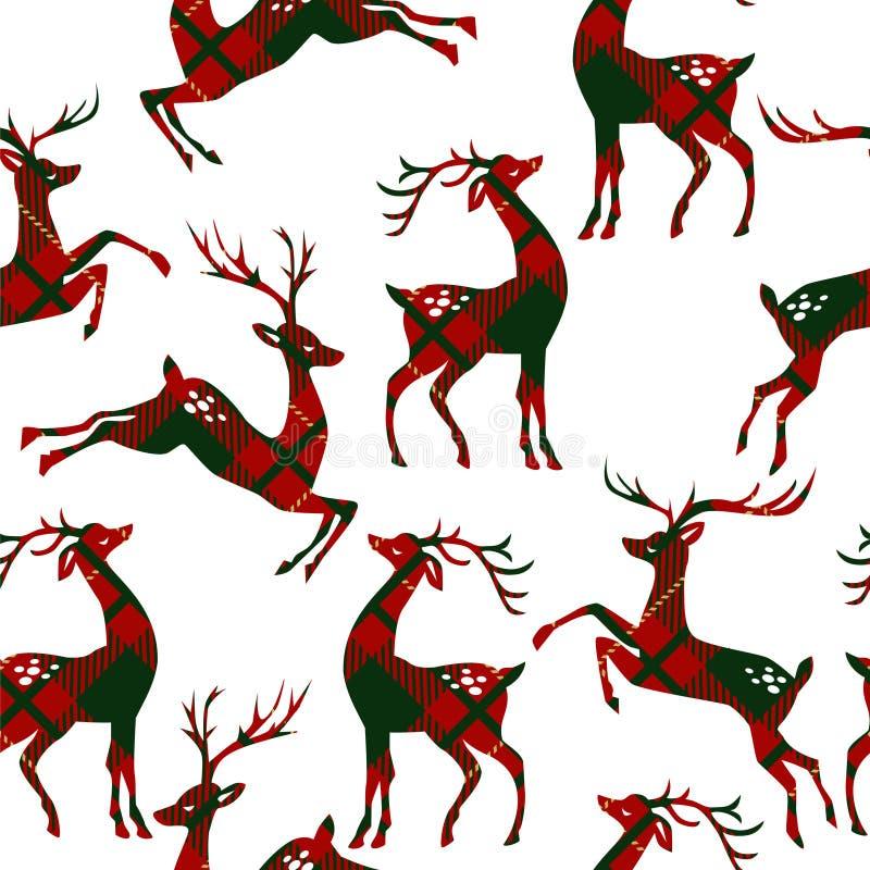 与鹿的无缝的样式 向量例证