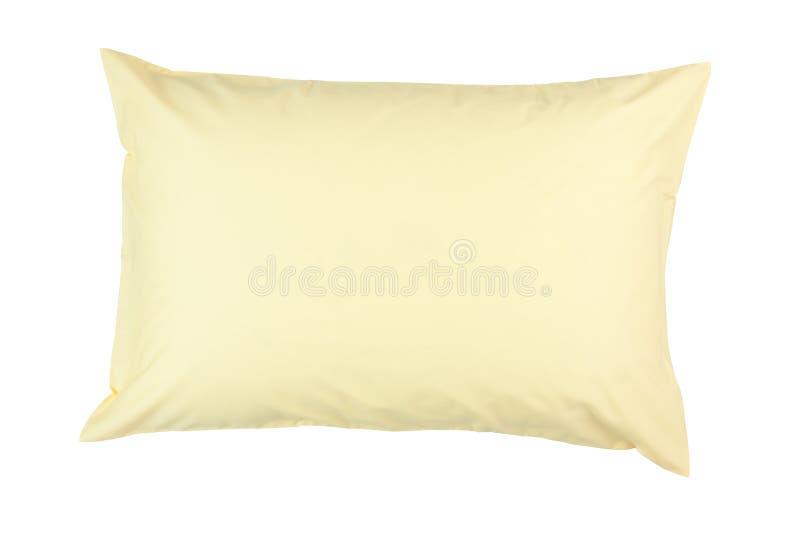 与黄色枕头盒的枕头 库存照片