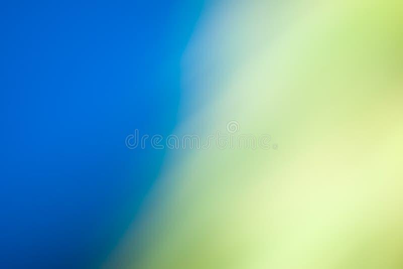 与黄色的抽象被弄脏的背景蓝色 图库摄影