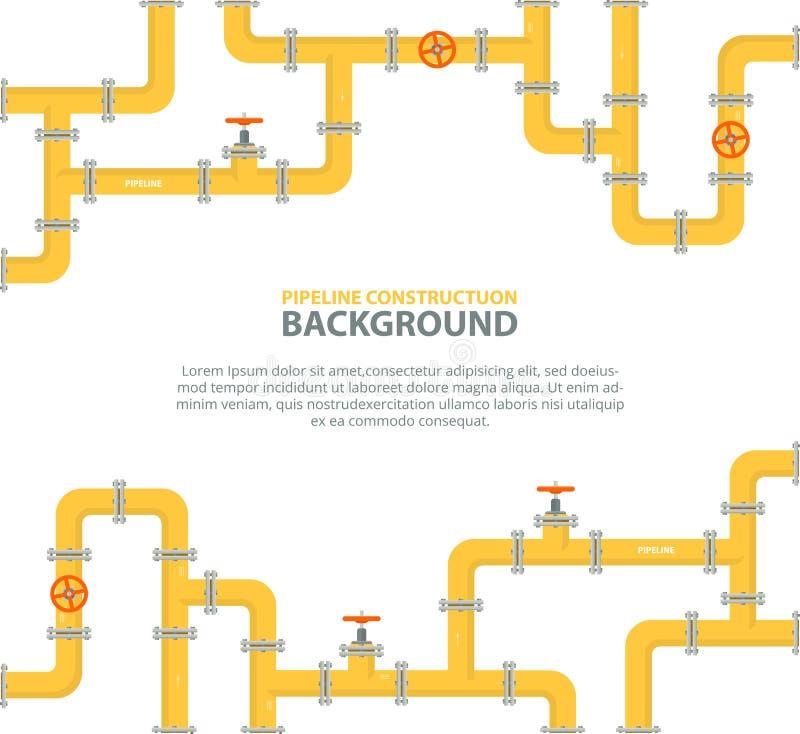 水或者气体管道与配件和阀门 向量例证 - 插画 包括有 行业, 维修服务图片